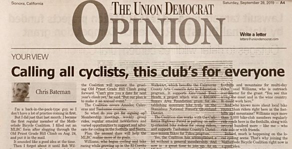 Union Democrat opinion piece